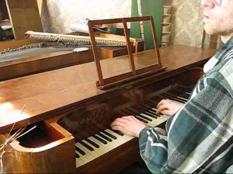 test of square piano with cover closed