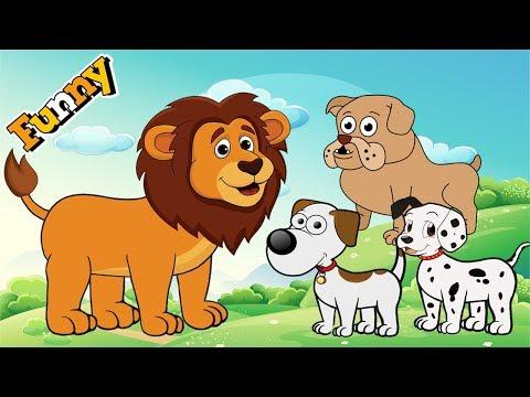 dogs-cartoons-for-children-full-episodes---funny-animals-cartoons-for-children---cutedog,-lion