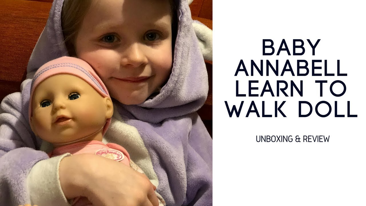 Baby Annabell Learn to walk doll - unboxing and review ...