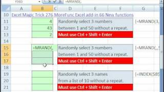 Excel Magic Trick 373: Randomize with No Repeats (Numbers or Words)