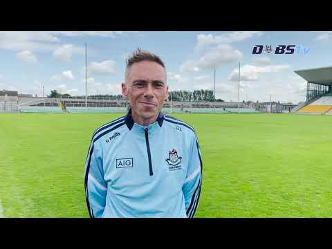 Dublin Minor Football Manager Ger Lyons reacts to victory over Offaly