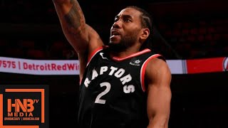 Toronto Raptors vs Detroit Pistons Full Game Highlights   March 17, 2018-19 NBA Season