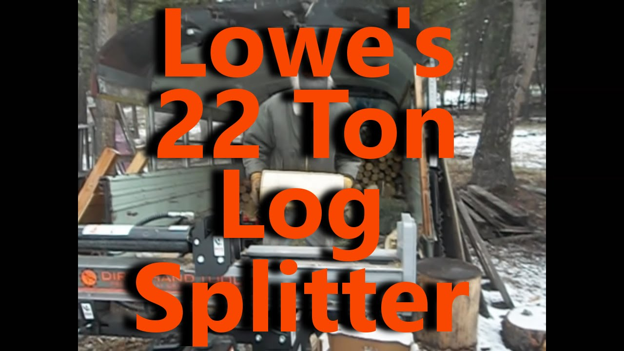Lowe S Dirty Hands 22 Ton Gas Splitter Off Grid Homesteading