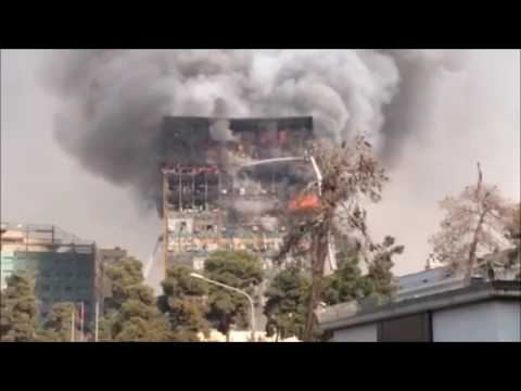 Tehran Plasco Building Collapse compilation: Explosives Must Be Investigated