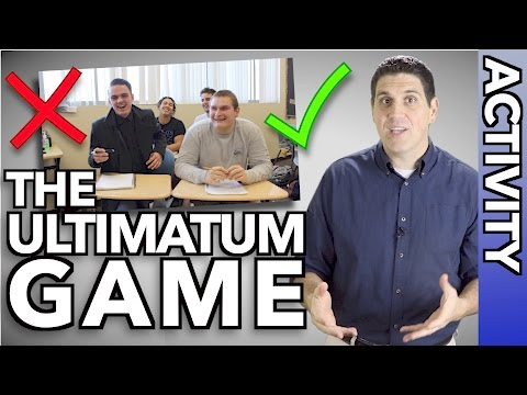 The Ultimatum Game- Are people rational?