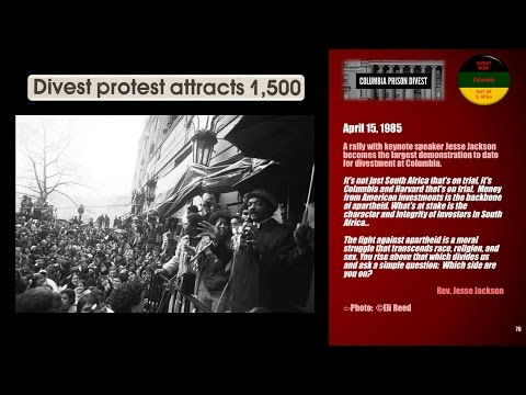 Columbia Univ. Free South Africa Anti-Apartheid Divestment Movement, 1977-1985 [HD]
