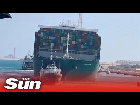 Suez Canal megaship is finally FREED and is moving down channel.