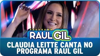 Claudia Leitte canta no Programa Raul Gil