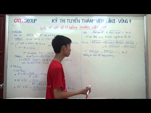 [TOÁN] Giải phương trình bằng phương pháp nhân liên hợp (part 1)