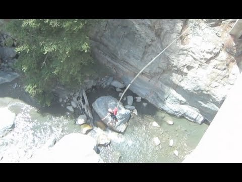 fat man bungee jump - YouTube