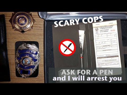 Scary Cops - Arrested for asking for a pen to sign ticket