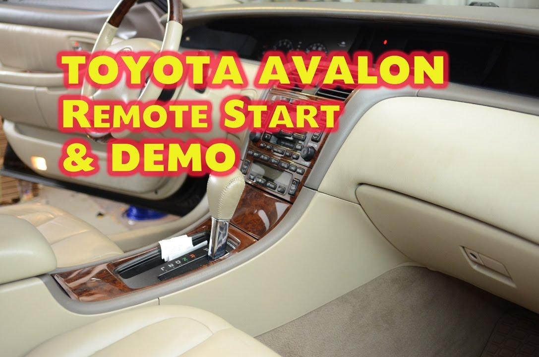 Toyota Remote Start >> Toyota Avalon Remote Start Installation with DEI Idatalink Bypass by Autotoys.Com - YouTube