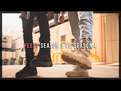 YEEZY SEASON 3 vs SEASON 4 BOOTS // review + on feet