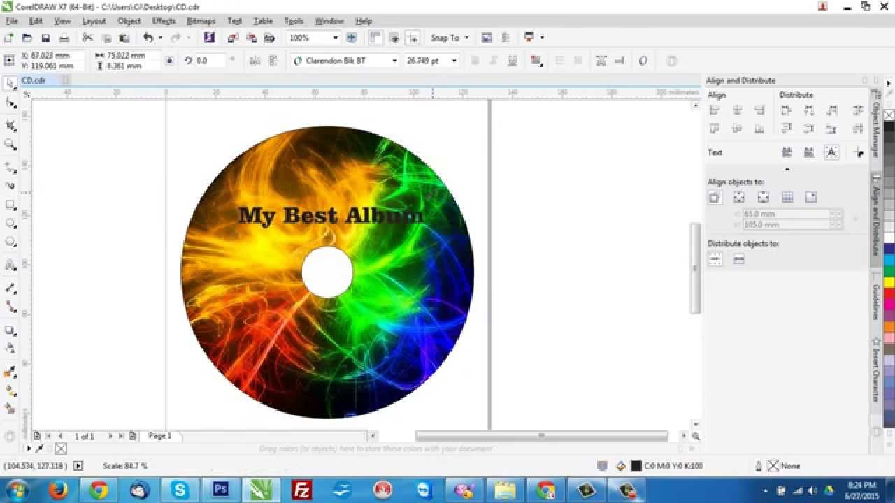 how to make a template for cd dvd in coreldraw youtube