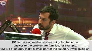 Newstalk Pat Kenny speaks to Minister for Housing Eoghan Murphy about the homelessness crisis
