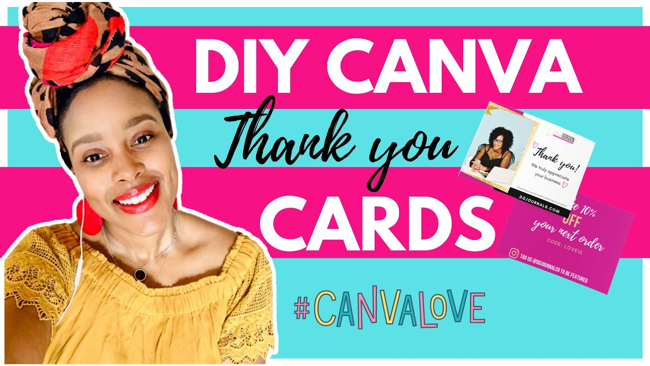 how to make diy thank you cards with canva for online