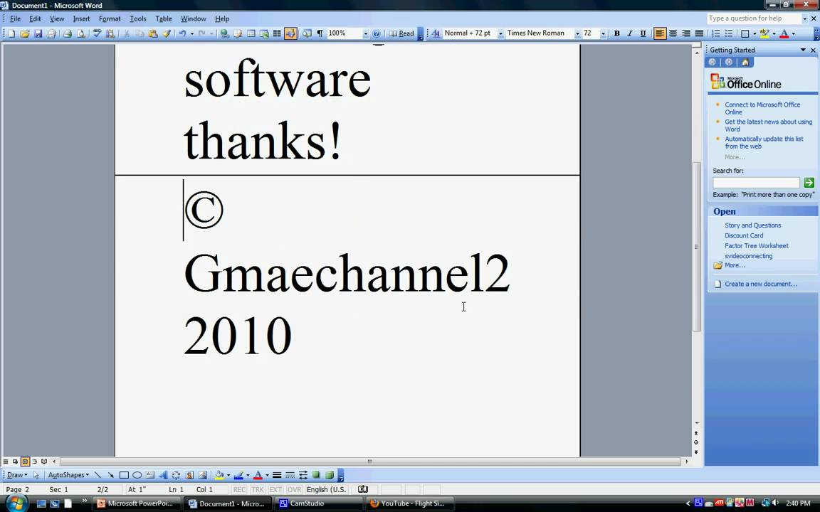 How To Add A Youtube Video Into 2003 Powerpoint(hd)