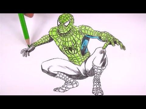 Homem Aranha Em Varias Cores Aprenda A Colorir Amazing