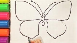 КАК НАРИСОВАТЬ БАБОЧКУ карандашом HOW TO DRAW BUTTERFLY Простые домашние рисунки (Эмилия)