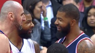 Markieff Morris Blocks Twin Brother Marcus On The Break!    12.16.16