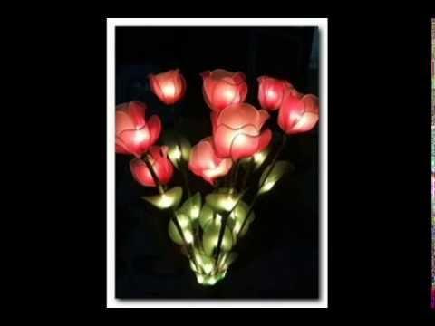 โคมไฟดอกไม้จากผ้าใยบัว