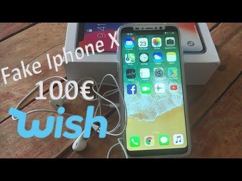 Unboxing FAKE IPHONE  X - WISH