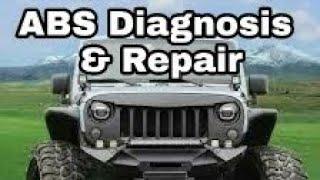 C1043 ABS Light Jeep Wrangler Jk Wheel speed sensor replacement U1417
