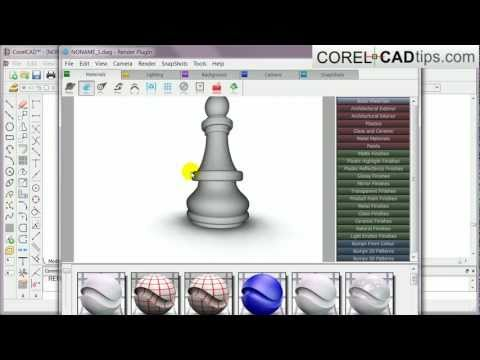 CorelCAD – First look at the 3D revolve feature