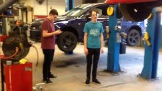 How to lift a car on a hoist ;)