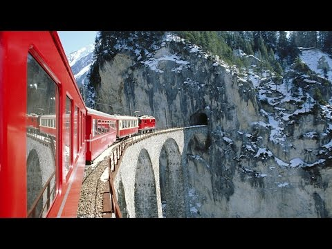 Bernina Express. Chur to Tirano. April - The best time to travel.