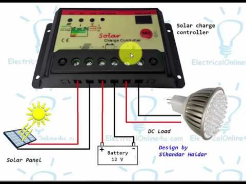 How To Connect Solar Panel To Battery And Solar Charge