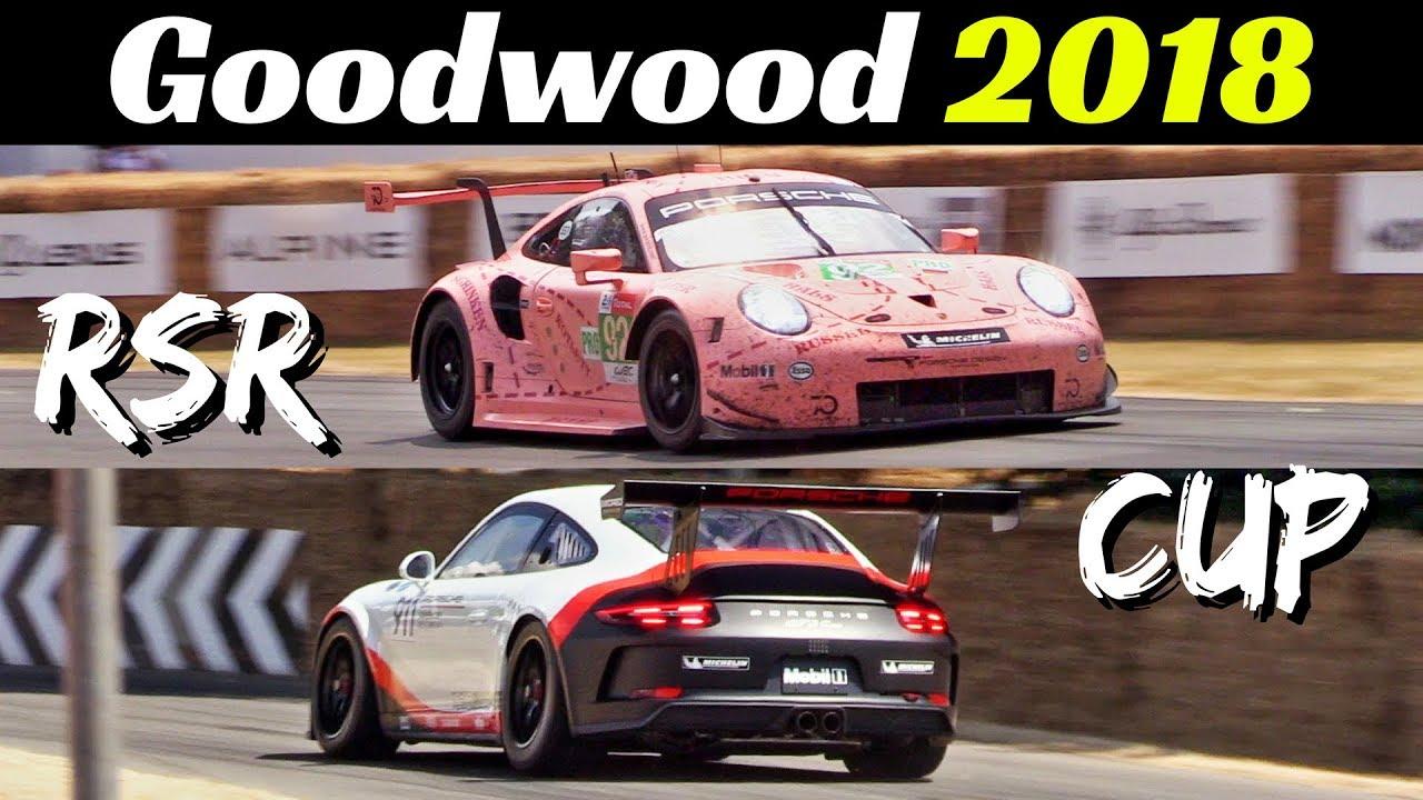 Porsche 991.2 RSR GTE & 991 GT3 CUP (2018) - 4.0-litre Flat-Six Sound! - Goodwood Festival of Sp
