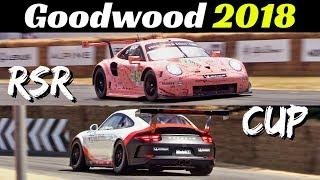 Porsche 991.2 RSR GTE & 991 GT3 CUP (2018) - 4.0-litre Flat-Six Sound! - Goodwood Festival of Speed