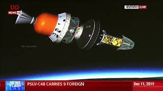 Launch of RISAT-2BR1 and 9 customer satellites by PSLV-C48