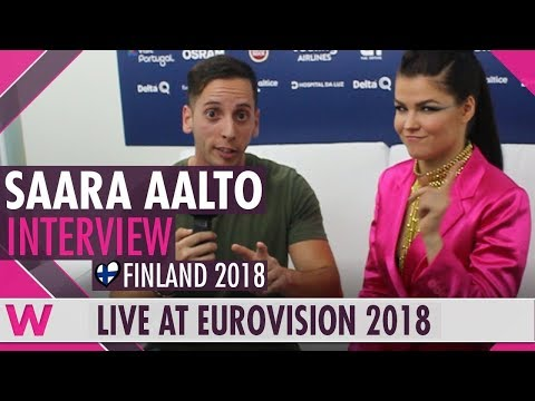 Finland's Saara Aalto discusses mental health after Eurovision 2018 second rehearsal