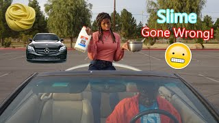 Making Slime In My Brother's Car! Gone Wrong! | Peachy Queen