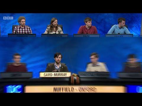 University Challenge S45E18 - University of Warwick vs Nuffield College, University of Oxford