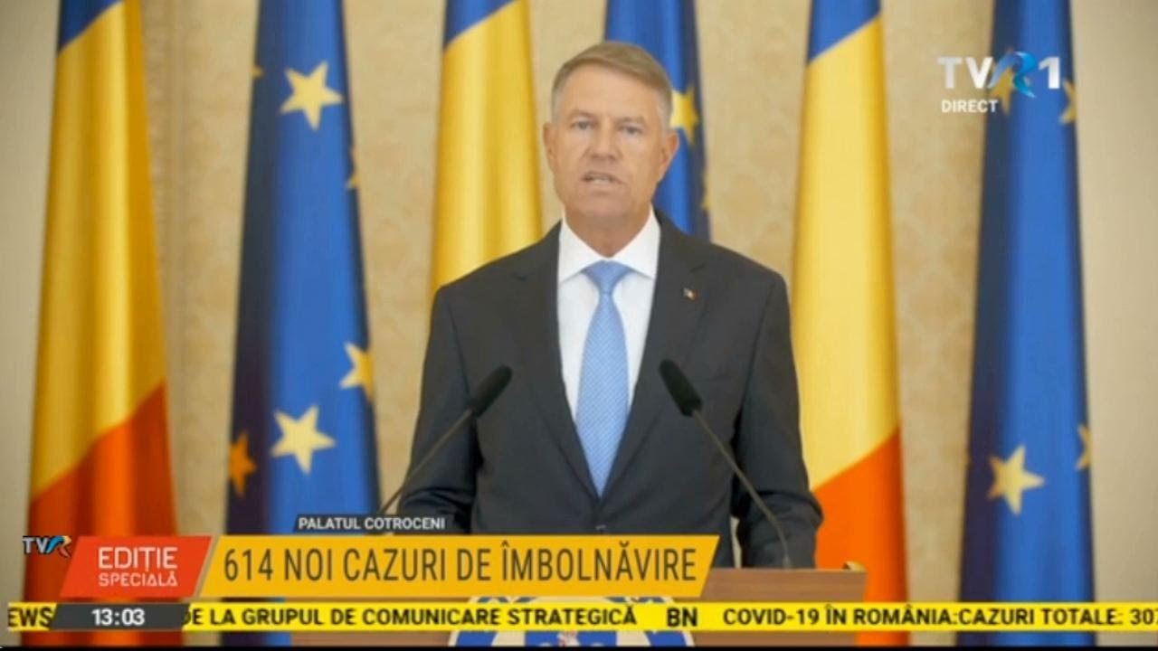 Declaraţii Klaus Iohannis, după un nou record de îmbolnăviri cu coronavirus în România