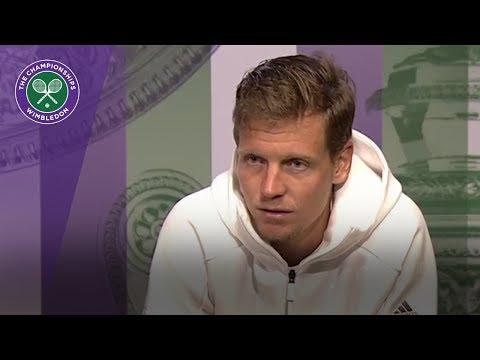Tomas Berdych Wimbledon 2017 semi-final press conference
