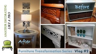 Furniture Transformation Series Vlog #2 - Night  Stands| Bed Bench | Console
