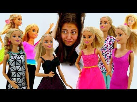Сборник с куклой Барби на канале Мегаклиника. Видео для девочек.