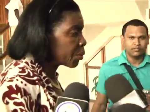 EMMA HIPPOLYTE QUESTIONED BY MEDIA AFTER SECOND POLICE RAID (SAINT LUCIA)