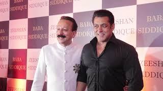 Salman Khan GRAND ENTRY At Baba Siddiqui Iftar Party 2018