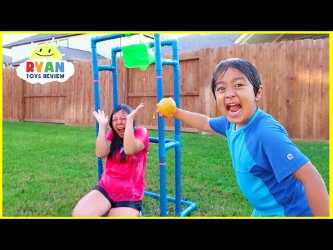 Dunk Tank Challenge  Family Fun Activities with Ryan ToysReview