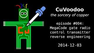 cuvoodoo 004 megacode gate radio control transmitter reverse engineering