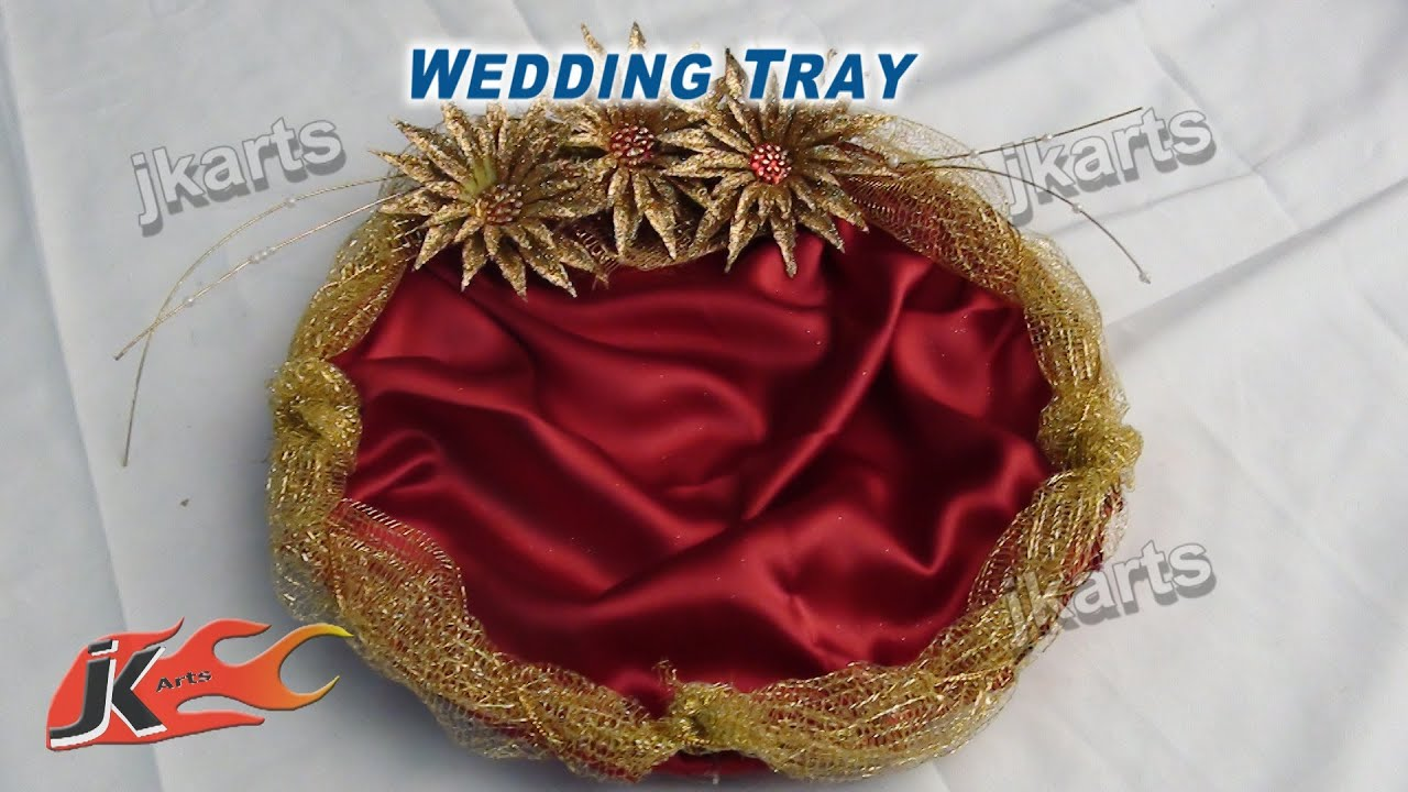 Diy how to make wedding tray jk arts 207 youtube junglespirit Images