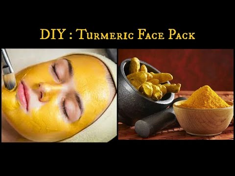 DIY: Turmeric face pack for oily acne prone skin and skin brightening