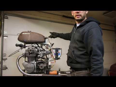 Honda CB350 Motorcycle Engine Test Stand