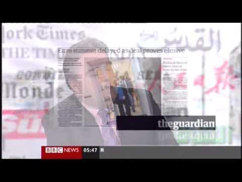Bank of New York Mellon exec reviews British Newspapers