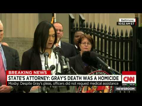 FREDDIE GRAY DEATH RULED HOMICIDE 6 OFFICERS CHARGED 2nd DEGREE MURDER